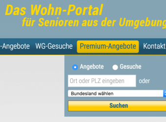 Bildschirmfoto SeniorenWG-Gold