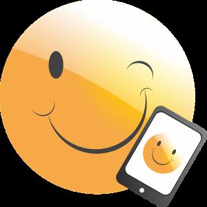 Smily mit Handy